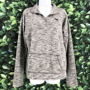 PINK Victoria's Secret Gray Pullover Jacket